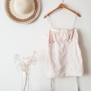 Boho Cream Cami    Ruched with Tie Back    3x